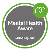 Maidstone and Mid-Kent Mind are Mental Health Aware thanks to Mental Health First Aid England.