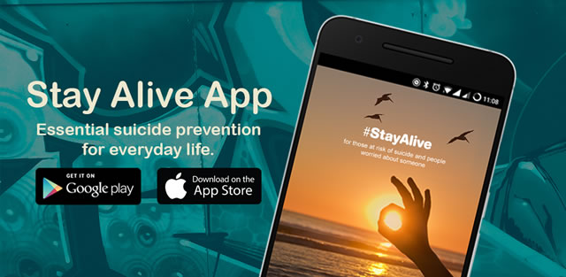 Stay Alive App. Available on the App store, or on Google Play. A free phone app which provides support, guidance and resources to individuals who may be experiencing suicidal thoughts or feelings - with the intention of putting elements such as safety plans in place.