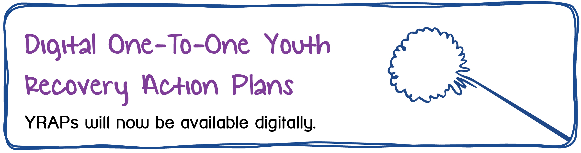 Digital One-To-One Youth Recovery Action Plans. YRAPs will now be available digitally.