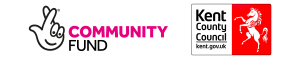Virtual Youth Cinema - National Lottery Community Fund and KCC Logos