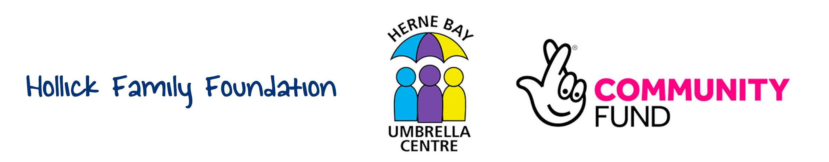 Mental Health Awareness - Umbrella Centre and Community Fund and Hollicks Family Foundation logos.
