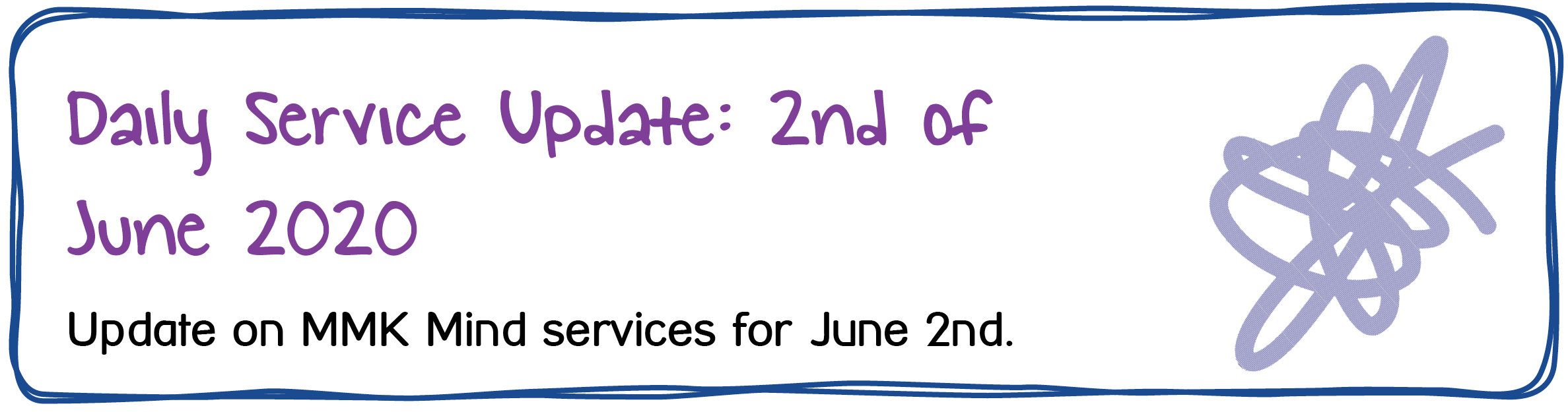 Daily Service Update: 2nd of June 2020. Update on MMK Mind services for June 2nd.