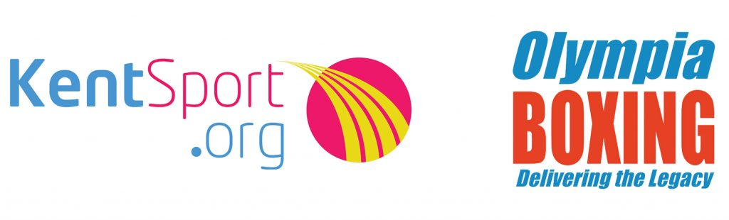 FREE Boxing Sessions - Kent Sport Logo and Olympia Boxing Logo