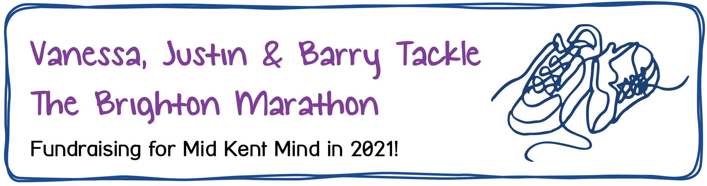 Vanessa, Justin and Barry Tackle The Brighton Marathon. Fundraising for Mid Kent Mind in 2021.