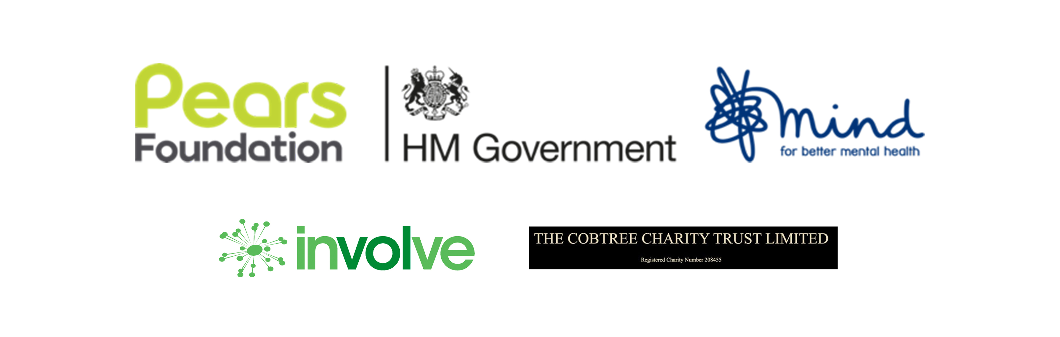 Pears Foundation, HM Government, Mind, Involve, Cobtree Charity Trust