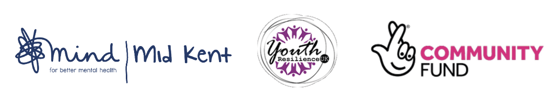 Life After Lockdown - Mid Kent Mind, Youth Resilience UK and Community Fund logos