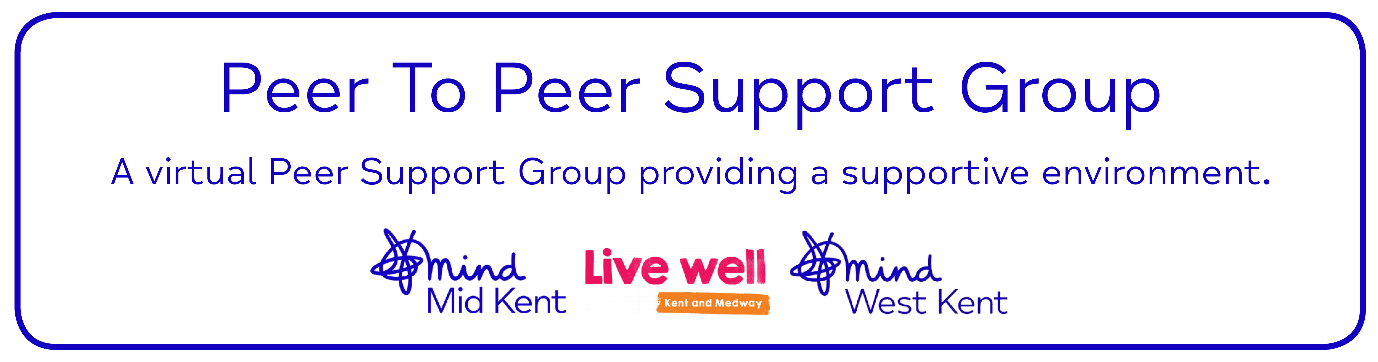Peer To Peer Support Group A virtual Peer Support Group providing a supportive environment.